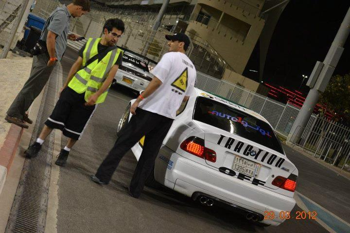 Chatting in the pitlane
